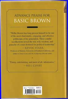 Willie Brown Book Cover Back